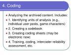 4 coding