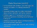 data sources cont d