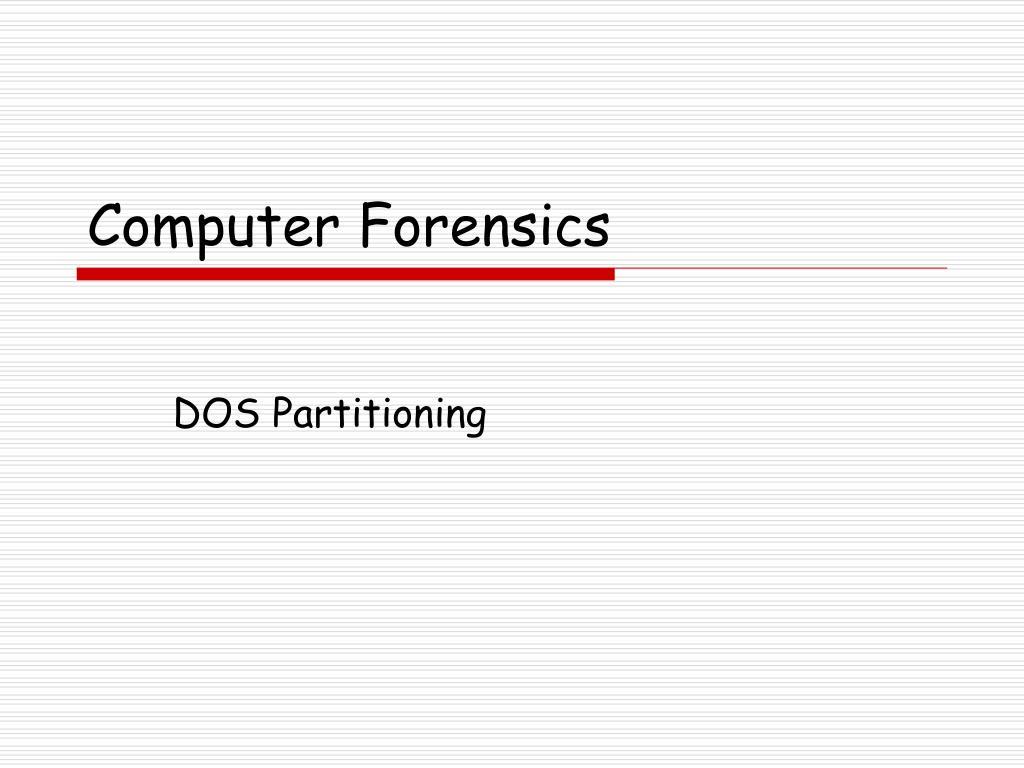 computer forensics l.