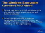 the windows ecosystem commitment to our partners5