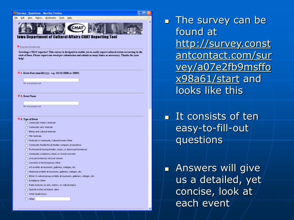 The survey can be found at