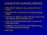 legislative changes needed