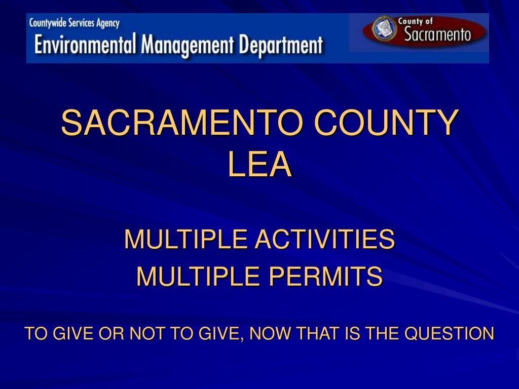 sacramento county lea l.