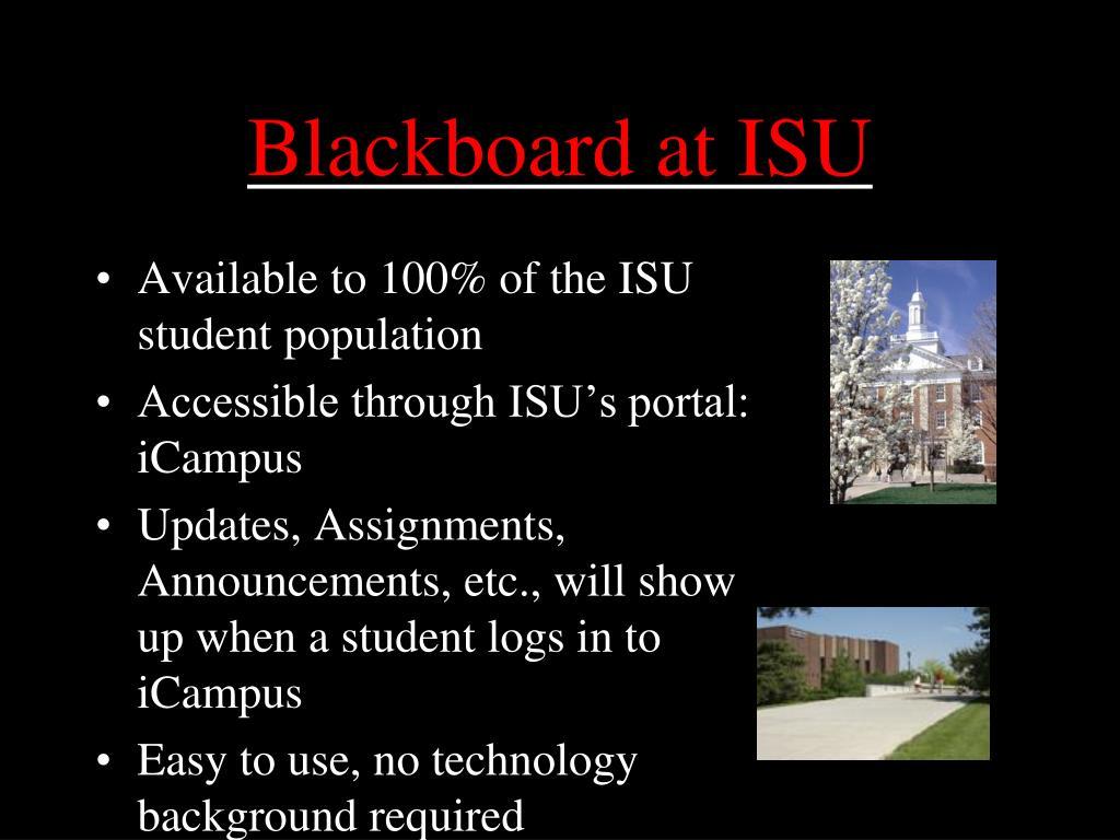 Blackboard at ISU