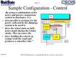 sample configuration control