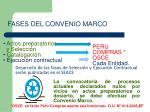fases del convenio marco