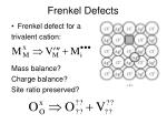 frenkel defects