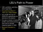 lbj s path to power