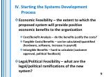 iv starting the systems development process9
