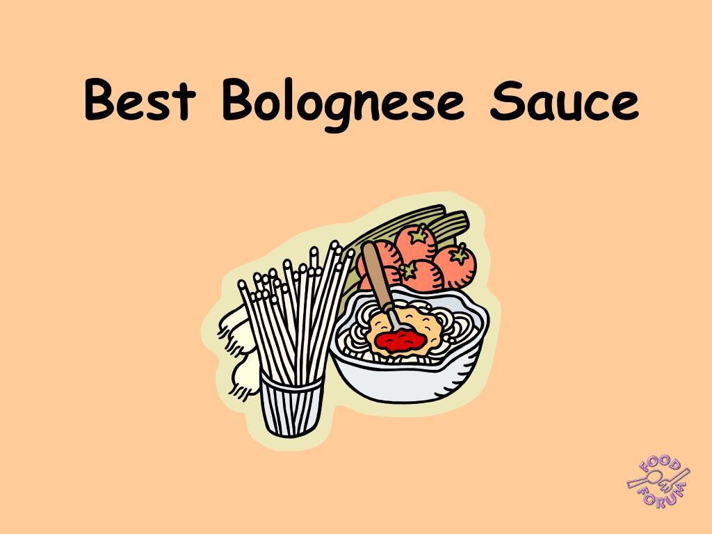 best bolognese sauce l.