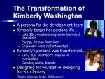 the transformation of kimberly washington