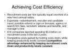 achieving cost efficiency