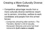 creating a more culturally diverse workforce