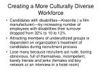 creating a more culturally diverse workforce11