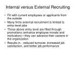 internal versus external recruiting