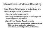internal versus external recruiting25