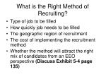 what is the right method of recruiting