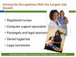 among the occupations with the largest job growth