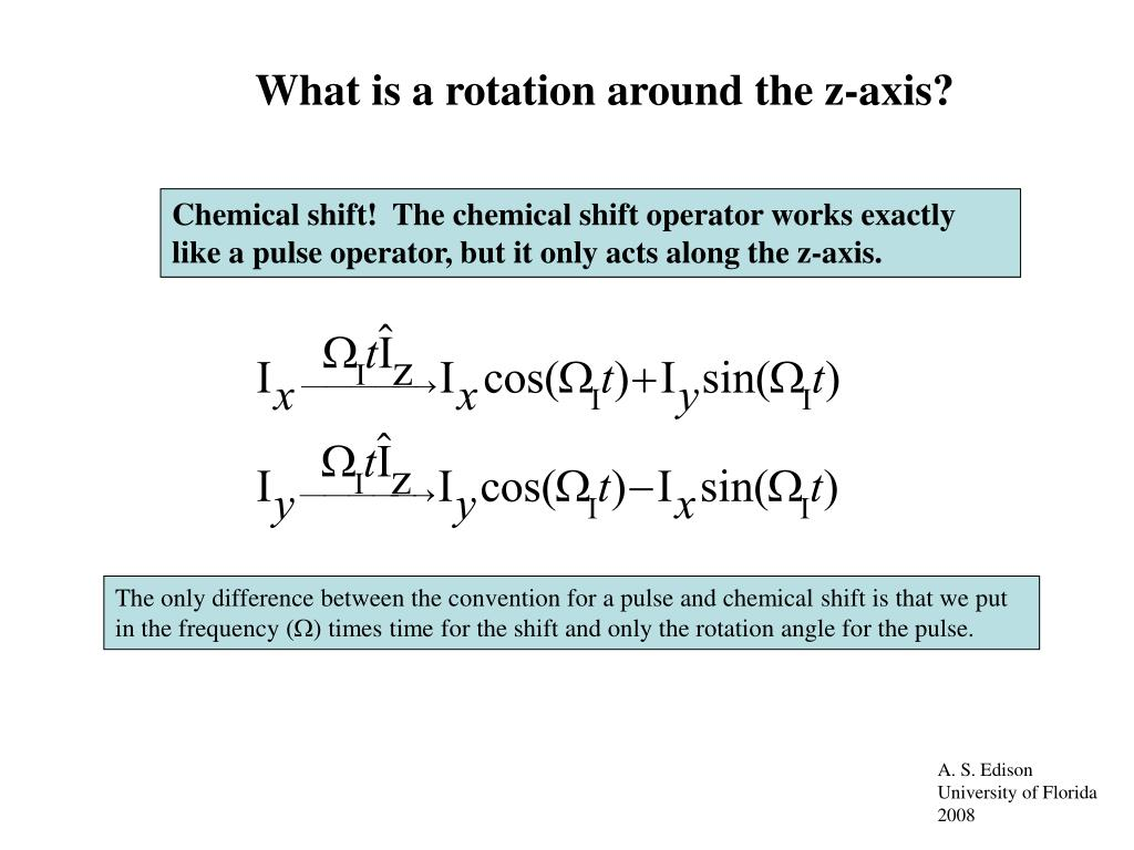 What is a rotation around the z-axis?