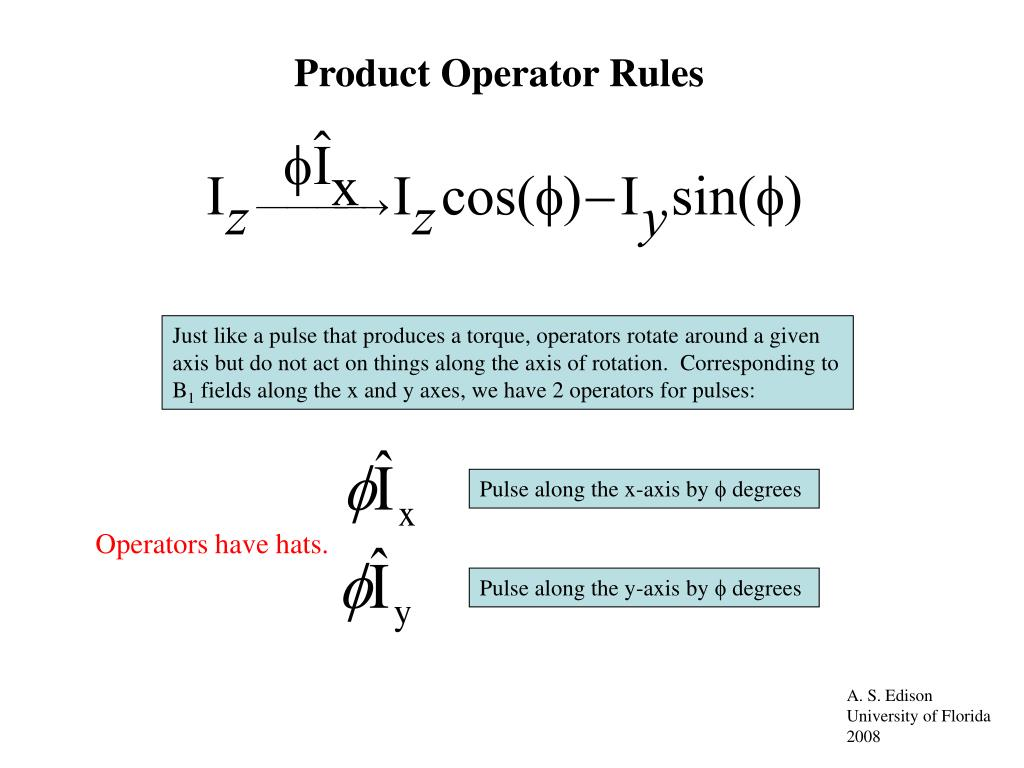 Product Operator Rules