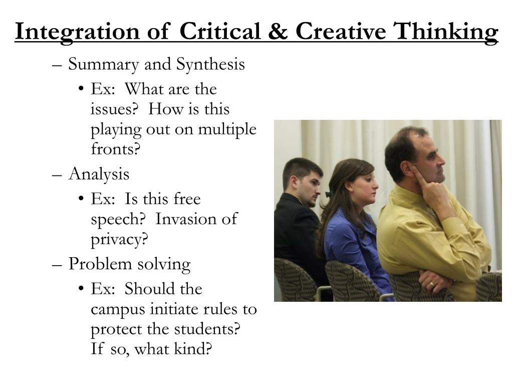 Integration of Critical & Creative Thinking