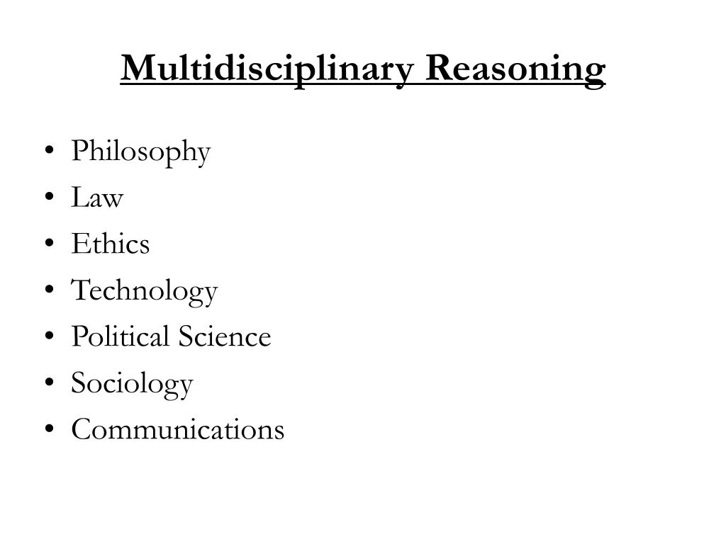 Multidisciplinary Reasoning
