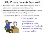 why privacy issues facebook