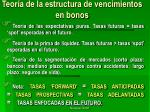 teor a de la estructura de vencimientos en bonos