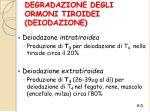 degradazione degli ormoni tiroidei deiodazione