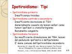 ipotiroidismo tipi