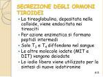 secrezione degli ormoni tiroidei