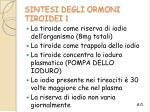 sintesi degli ormoni tiroidei 1