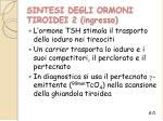 sintesi degli ormoni tiroidei 2 ingresso