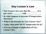 gay lussac s law