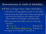 determination of width of subadder 2
