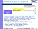 summer immersion and internship