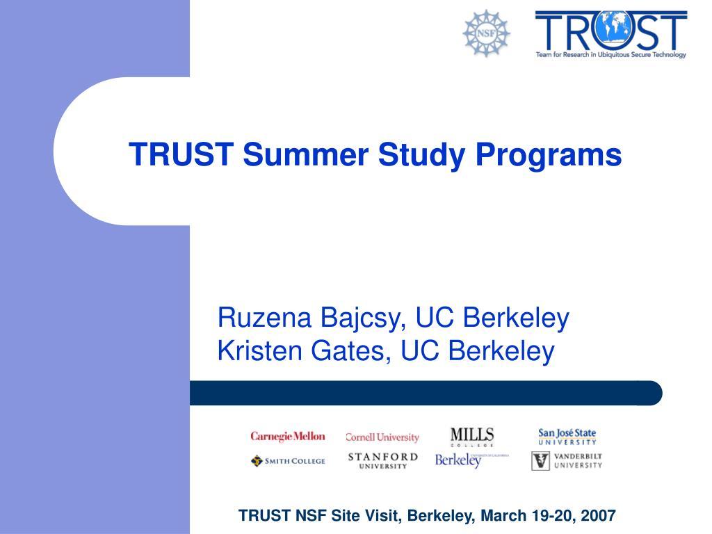 trust summer study programs l.