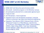wise 2007 at uc berkeley