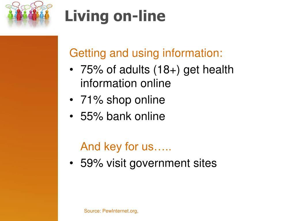 Living on-line