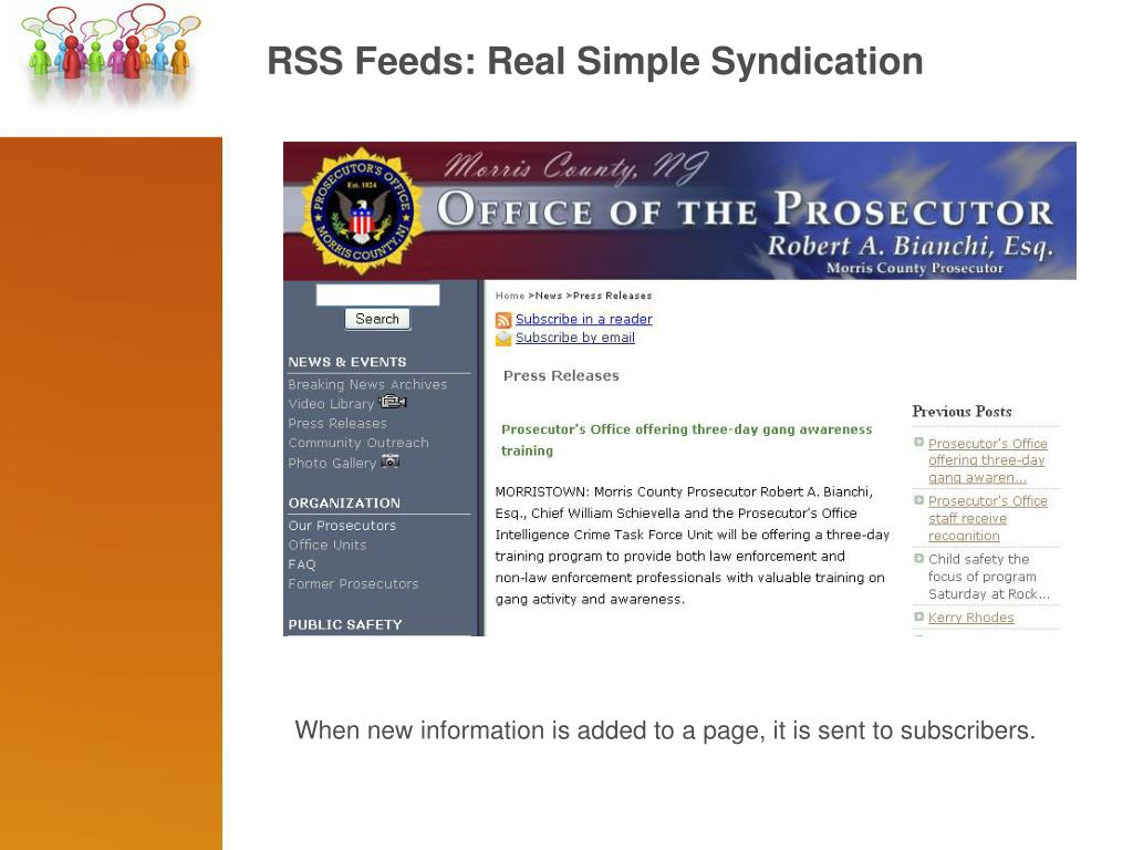 RSS Feeds: Real Simple Syndication