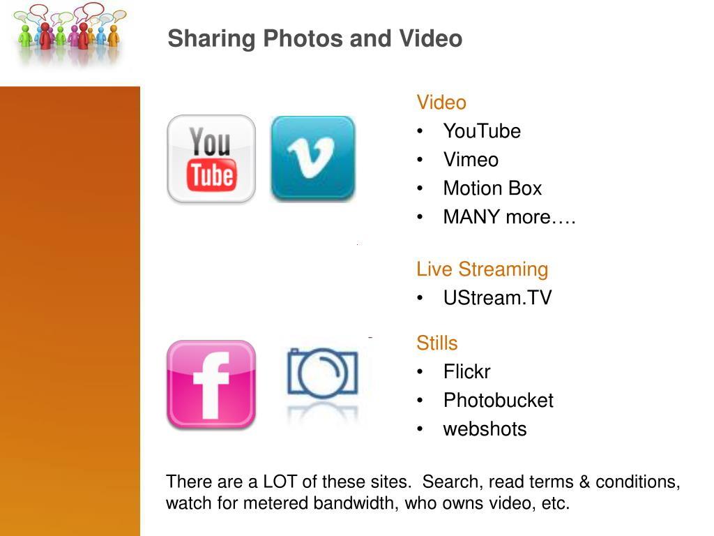 Sharing Photos and Video