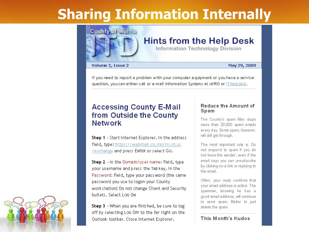 Sharing Information Internally