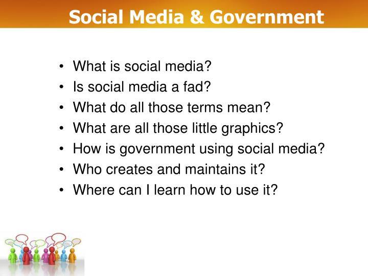 Social media government