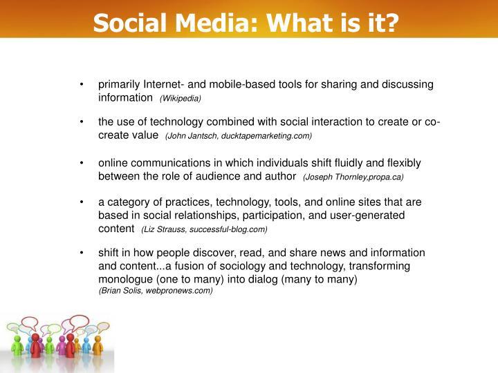 Social media what is it