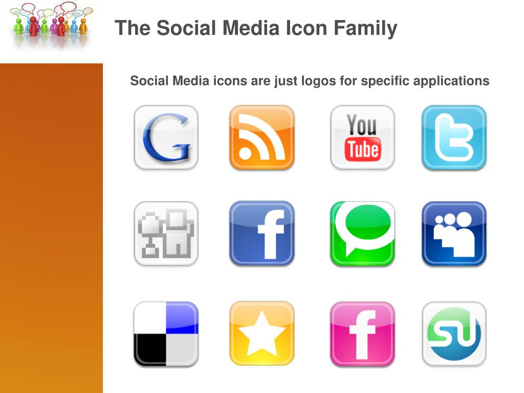 The Social Media Icon Family