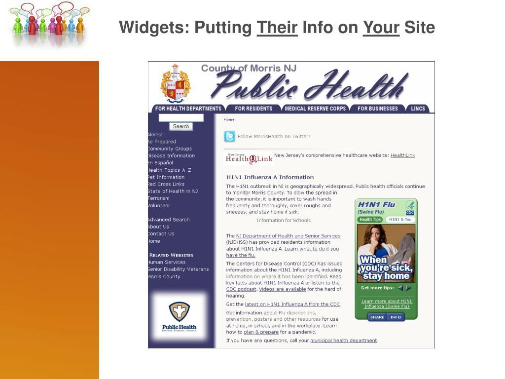 Widgets: Putting