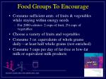 food groups to encourage