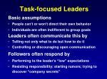 task focused leaders