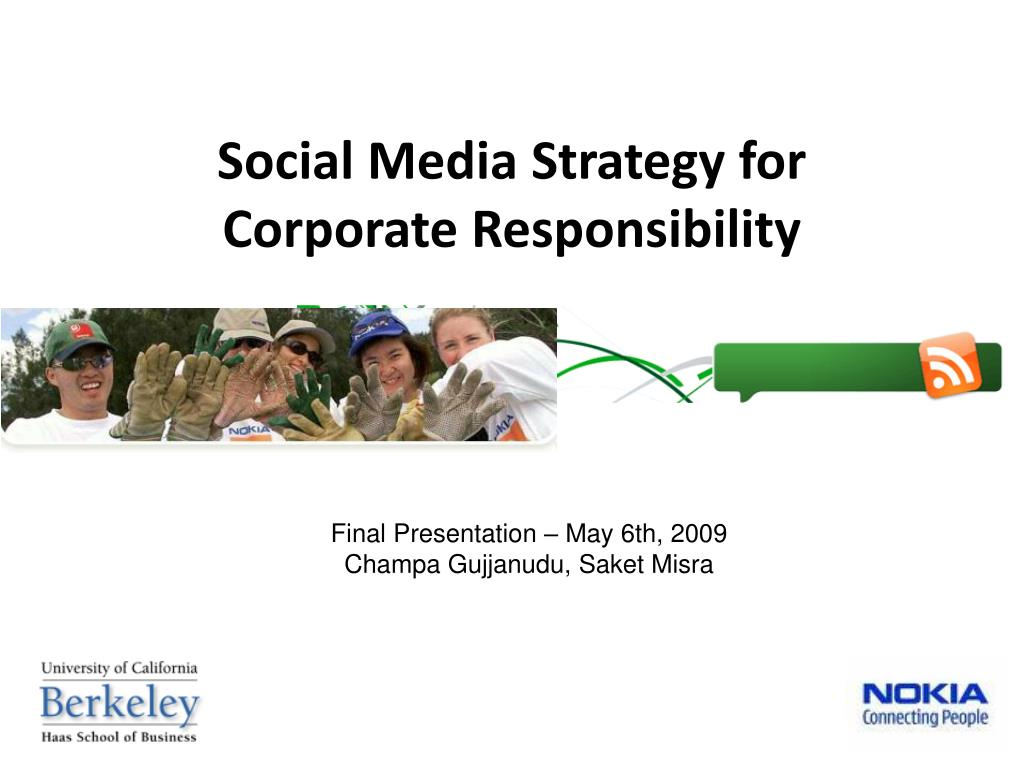 social media strategy for corporate responsibility l.