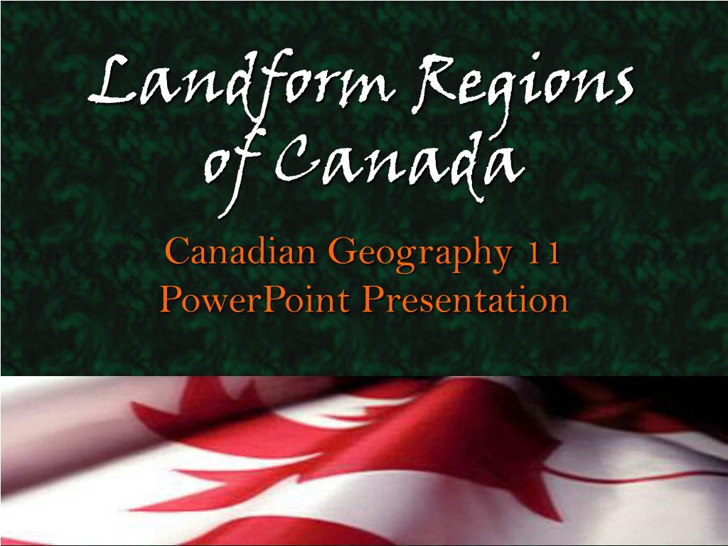 landform regions of canada l.